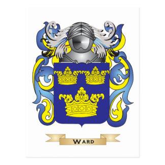 Escudo de la familia de la sala (escudo de armas) tarjetas postales