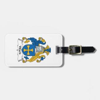 Escudo de la familia de la sala etiqueta para equipaje