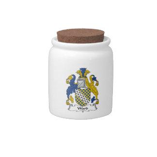 Escudo de la familia de la sala jarras para caramelos
