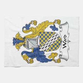 Escudo de la familia de la sala toallas