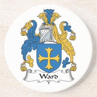 Escudo de la familia de la sala posavasos diseño