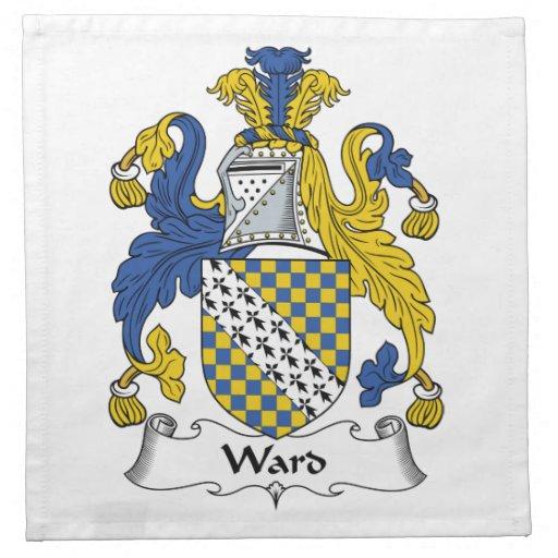 Escudo de la familia de la sala servilletas de papel