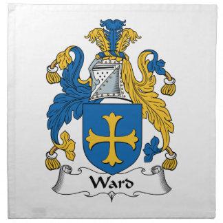Escudo de la familia de la sala servilleta imprimida