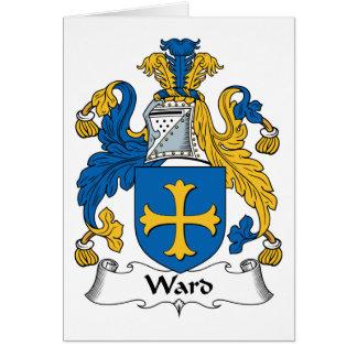 Escudo de la familia de la sala tarjeta de felicitación