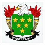 Escudo de la familia de la salchicha de Frankfurt Invitación 13,3 Cm X 13,3cm