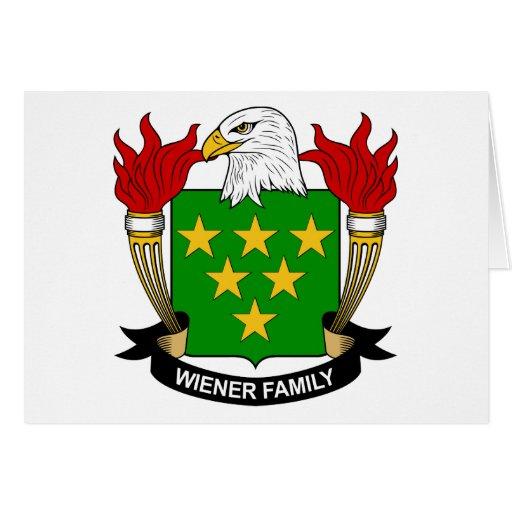 Escudo de la familia de la salchicha de Frankfurt Felicitaciones
