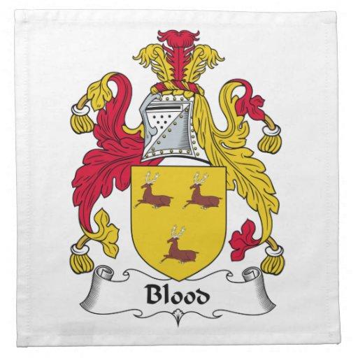 Escudo de la familia de la sangre servilleta