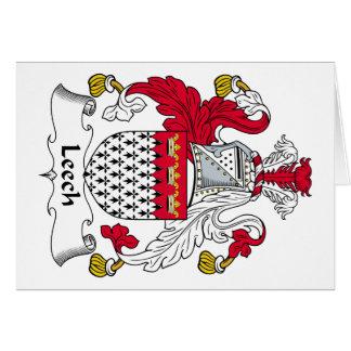 Escudo de la familia de la sanguijuela tarjeta de felicitación