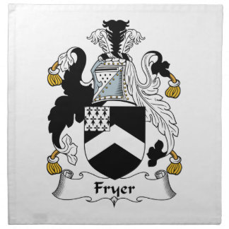 Escudo de la familia de la sartén servilletas