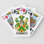 Escudo de la familia de la sequía baraja cartas de poker