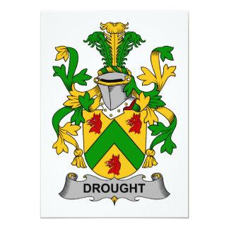 Escudo de la familia de la sequía invitación 12,7 x 17,8 cm