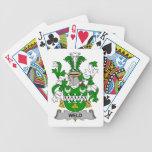 Escudo de la familia de la soldadura baraja cartas de poker