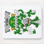 Escudo de la familia de la soldadura alfombrilla de ratón