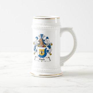 Escudo de la familia de la suciedad jarra de cerveza
