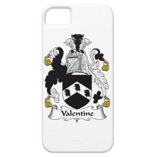 Escudo de la familia de la tarjeta del día de San iPhone 5 Funda