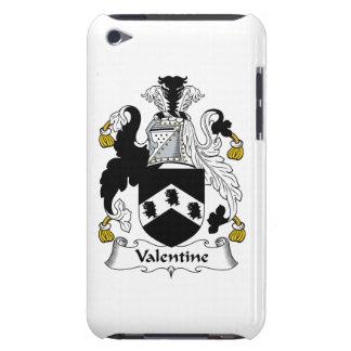 Escudo de la familia de la tarjeta del día de San  iPod Case-Mate Cárcasa