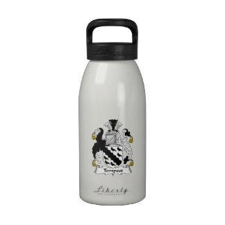 Escudo de la familia de la tempestad botellas de agua reutilizables