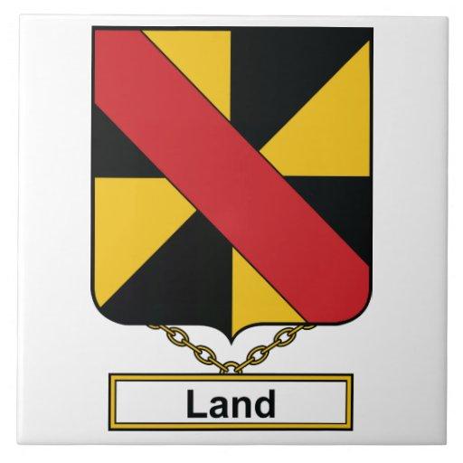 Escudo de la familia de la tierra azulejo cerámica
