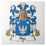 Escudo de la familia de la tonalidad azulejo ceramica