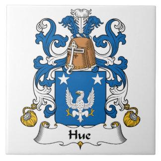 Escudo de la familia de la tonalidad azulejo cuadrado grande