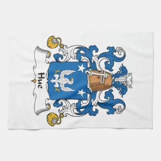 Escudo de la familia de la tonalidad toalla de mano