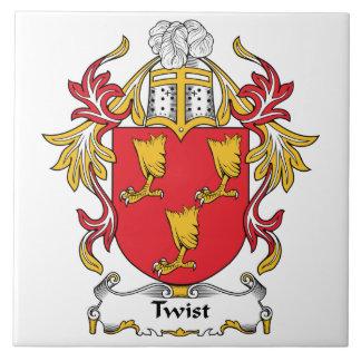 Escudo de la familia de la torsión azulejo cuadrado grande