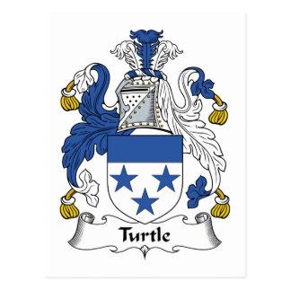 Escudo de la familia de la tortuga tarjeta postal