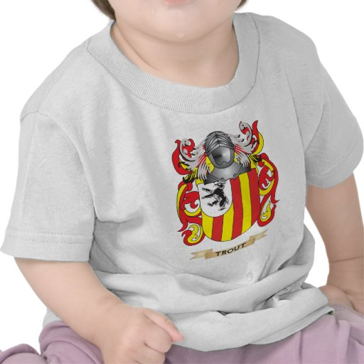 Escudo de la familia de la trucha (escudo de armas camisetas