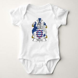Escudo de la familia de la valencia body para bebé