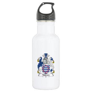 Escudo de la familia de la valencia botella de agua