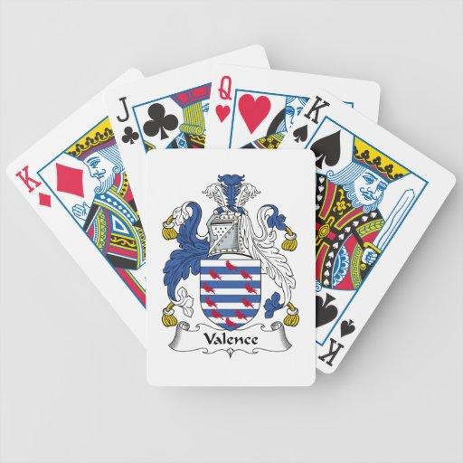 Escudo de la familia de la valencia baraja de cartas
