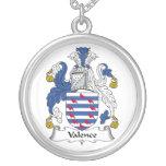 Escudo de la familia de la valencia collares personalizados