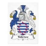 Escudo de la familia de la valencia invitación personalizada