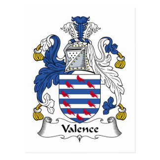 Escudo de la familia de la valencia tarjetas postales