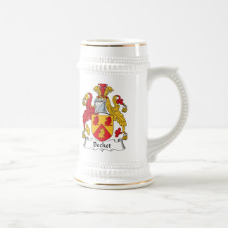 Escudo de la familia de la vinatera jarra de cerveza