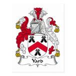 Escudo de la familia de la yarda tarjeta postal