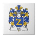 Escudo de la familia de la zeta azulejos