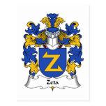 Escudo de la familia de la zeta postales