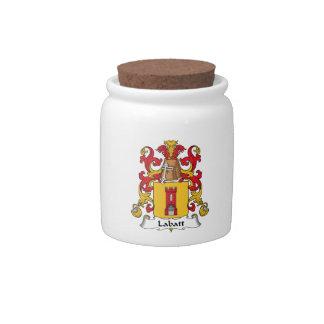 Escudo de la familia de Labatt Platos Para Caramelos