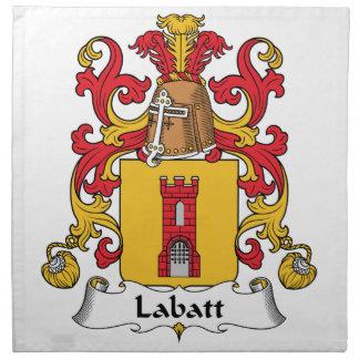 Escudo de la familia de Labatt Servilletas