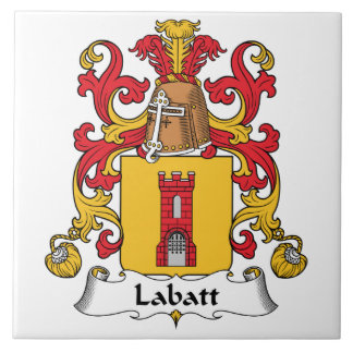 Escudo de la familia de Labatt Teja Cerámica