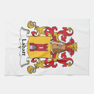 Escudo de la familia de Labatt Toalla