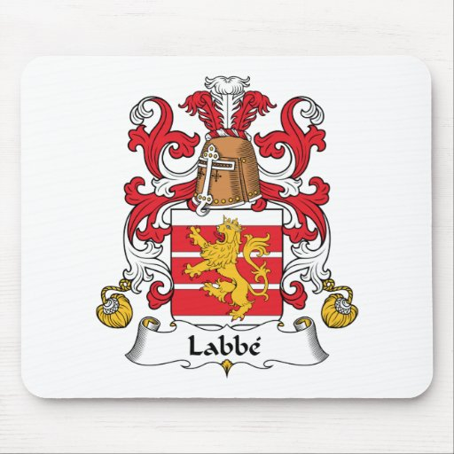 Escudo de la familia de Labbe Alfombrillas De Raton