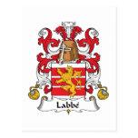 Escudo de la familia de Labbe Tarjeta Postal