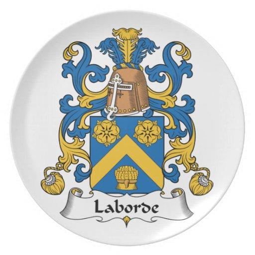 Escudo de la familia de Laborde Plato Para Fiesta
