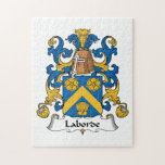 Escudo de la familia de Laborde Rompecabeza Con Fotos