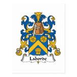 Escudo de la familia de Laborde Tarjetas Postales
