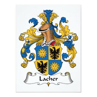 Escudo de la familia de Lacher Invitación 16,5 X 22,2 Cm