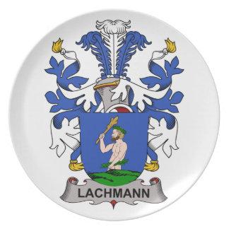 Escudo de la familia de Lachmann Platos Para Fiestas