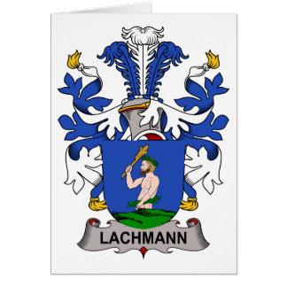 Escudo de la familia de Lachmann Tarjeta De Felicitación